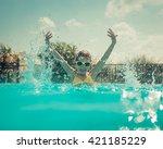 Child Having Fun In Swimming...