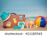 Child Lying On Sandy Beach Nea...