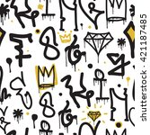 Graffiti Background Seamless...