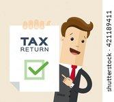 vector illustration of tax... | Shutterstock .eps vector #421189411