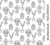 cactus seamless pattern... | Shutterstock .eps vector #421193014