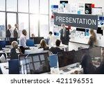 presentation information... | Shutterstock . vector #421196551