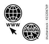 web icons set  network sign ... | Shutterstock .eps vector #421206769