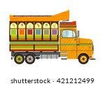 funny cartoon indian jingle... | Shutterstock .eps vector #421212499