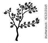 tree silhouette | Shutterstock .eps vector #421213165