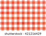 classic checked red watercolor... | Shutterstock . vector #421216429