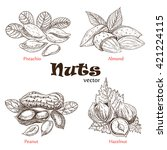 collection of nuts. | Shutterstock .eps vector #421224115
