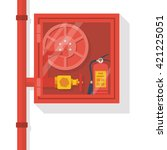 fire hose cabinet isolate in... | Shutterstock .eps vector #421225051