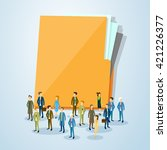 business people crowd over... | Shutterstock .eps vector #421226377