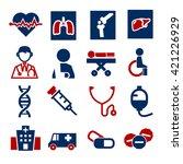 hospital  infirmary icon set | Shutterstock .eps vector #421226929
