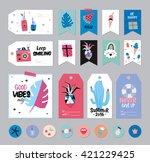 cute summer scandinavian set of ... | Shutterstock .eps vector #421229425