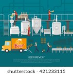 Beer Brewery Concept Flat...