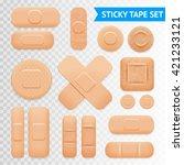 medical adhesive waterproof aid ... | Shutterstock .eps vector #421233121