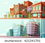 modern and historical city... | Shutterstock .eps vector #421241701