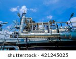 piping of boiler in power plant   Shutterstock . vector #421245025