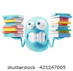 studying emoticon character... | Shutterstock . vector #421247005