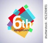 6th years anniversary logo ... | Shutterstock .eps vector #421250851