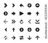 mini arrows vector icons 1 | Shutterstock .eps vector #421255534