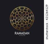 ramadan kareem. arabic or... | Shutterstock .eps vector #421264129