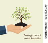 ecology concept. environmental... | Shutterstock .eps vector #421265029