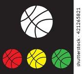 web icon. basketball | Shutterstock .eps vector #421265821