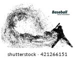 silhouette of a baseball player ... | Shutterstock .eps vector #421266151