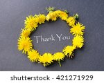 thank you  lettering.round...   Shutterstock . vector #421271929