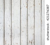 wood plank fence with an old... | Shutterstock . vector #421276387