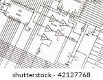 electronics schematic | Shutterstock . vector #42127768