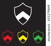 web line icon. shield. | Shutterstock .eps vector #421279849