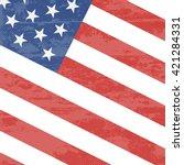 usa american vector flag... | Shutterstock .eps vector #421284331