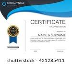 vector certificate template. | Shutterstock .eps vector #421285411