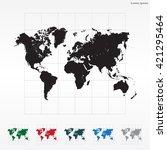world map illustration | Shutterstock .eps vector #421295464