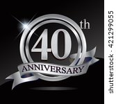 40th anniversary logo with... | Shutterstock .eps vector #421299055