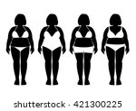 collection of silhouettes of... | Shutterstock .eps vector #421300225