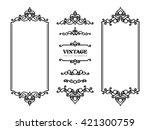 vintage frames and vignettes ... | Shutterstock .eps vector #421300759