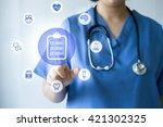 medicine doctor   nurse working ...   Shutterstock . vector #421302325