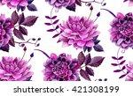 Watercolor Flowers Pattern ....