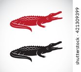 Vector Of Crocodile Design On...
