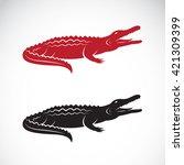 Vector Of Crocodile Design On...