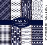 set of marine and nautical... | Shutterstock .eps vector #421311577