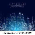 modern city life abstract... | Shutterstock .eps vector #421317577