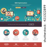 seo optimization one page... | Shutterstock . vector #421322899