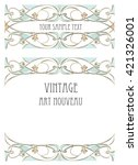 art nouveau style background | Shutterstock .eps vector #421326001
