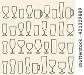 beer glasses isolated icons set.... | Shutterstock .eps vector #421329889