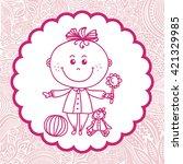 baby girl  | Shutterstock .eps vector #421329985