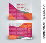 brochure mock up design... | Shutterstock .eps vector #421332514