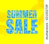 summer sale vector illustration. | Shutterstock .eps vector #421332739