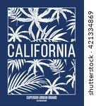 california typography for t... | Shutterstock .eps vector #421334869