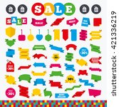 banners  web stickers and... | Shutterstock .eps vector #421336219